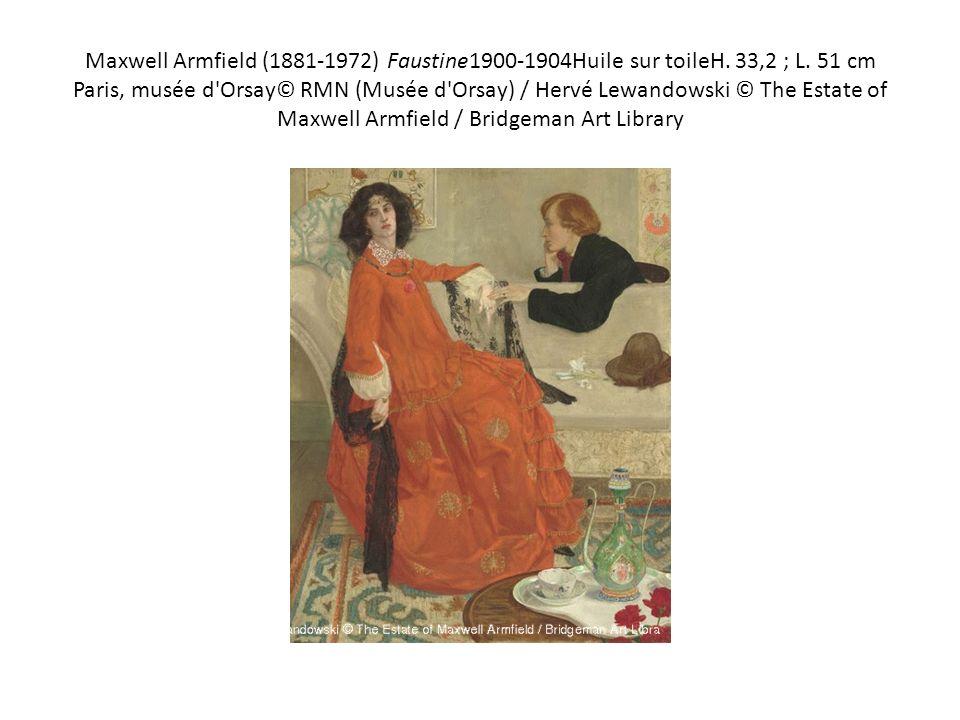 Maxwell Armfield (1881-1972) Faustine1900-1904Huile sur toileH. 33,2 ; L. 51 cm Paris, musée d'Orsay© RMN (Musée d'Orsay) / Hervé Lewandowski © The Es