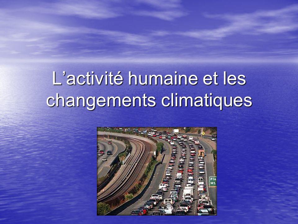 Lactivité humaine et les changements climatiques