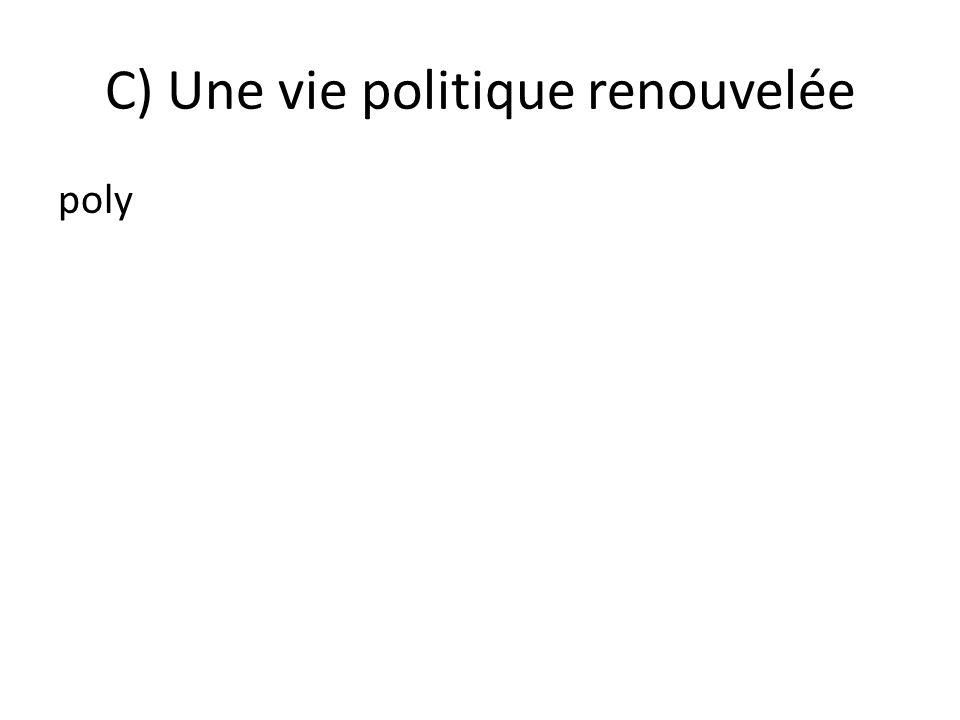 C) Une vie politique renouvelée poly