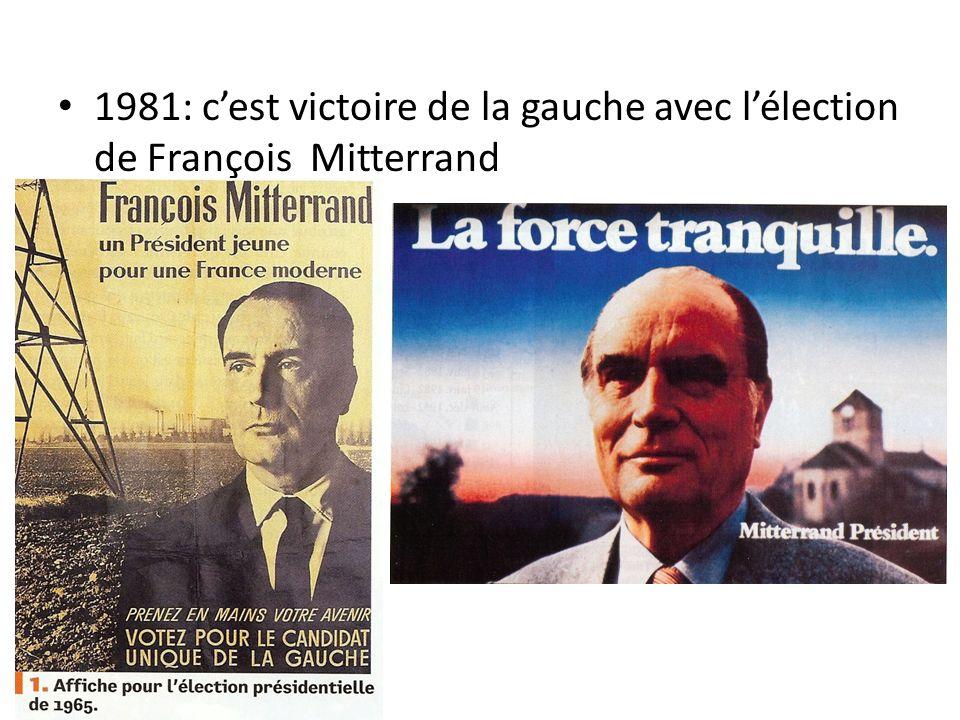 1981: cest victoire de la gauche avec lélection de François Mitterrand