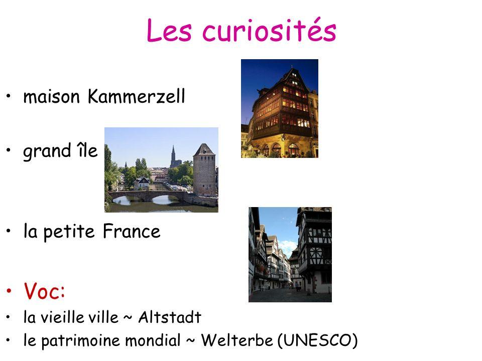 Les curiosités maison Kammerzell grand île la petite France Voc: la vieille ville ~ Altstadt le patrimoine mondial ~ Welterbe (UNESCO)