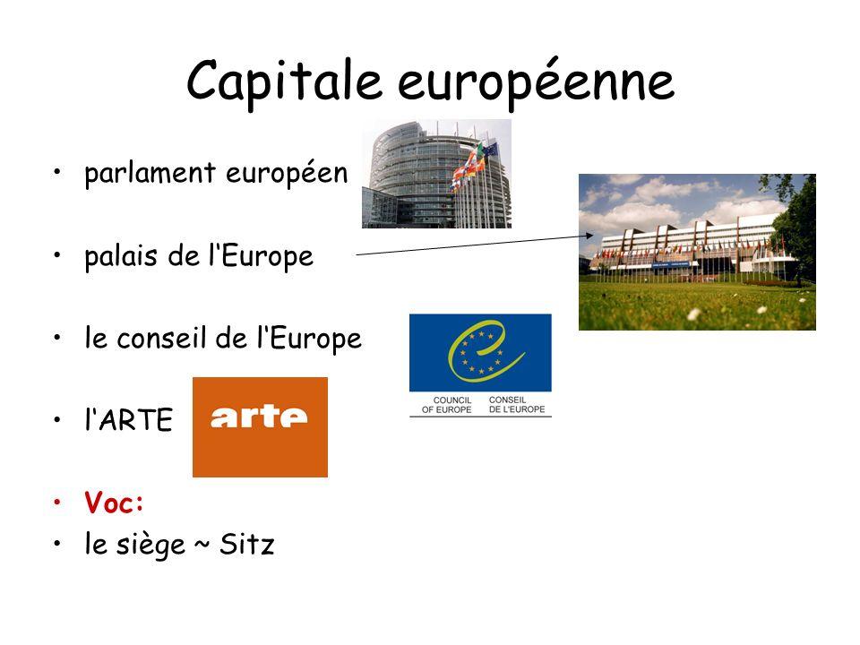 Capitale européenne parlament européen palais de lEurope le conseil de lEurope lARTE Voc: le siège ~ Sitz