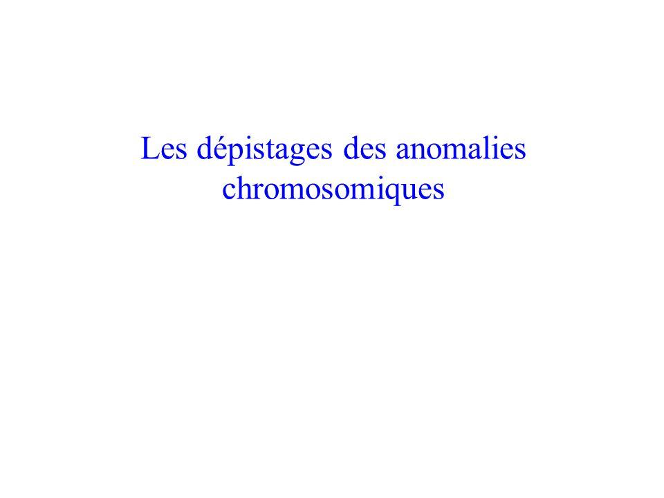 Les dépistages des anomalies chromosomiques