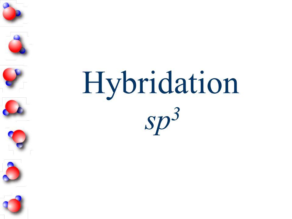 Hybridation Les orbitales hybrides Dans ce modèle de représentation, on observe comment les orbitales s et p se recouvrent quand il y a partage délect
