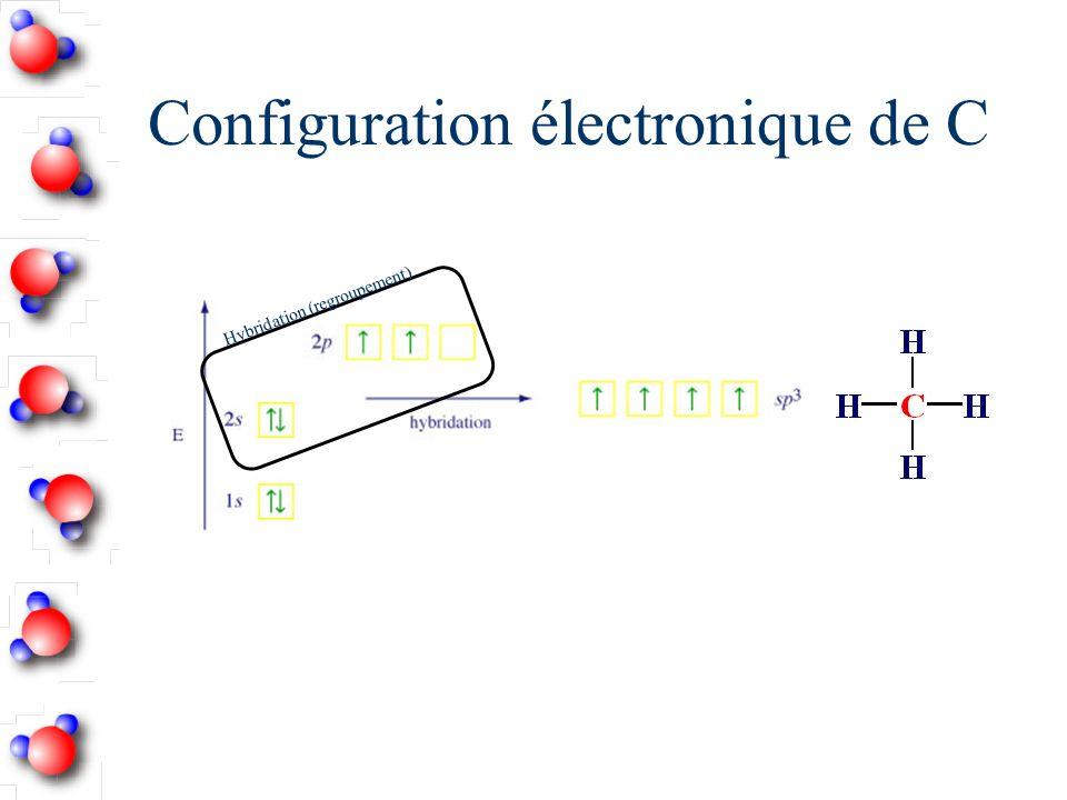 Identifiez les atomes hybridés sp 3 Noublie pas quune liaison double ne compte seulement que pour un doublet dans la géométrie moléculaire.