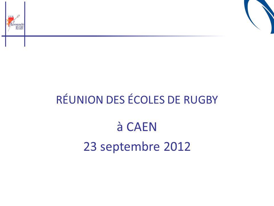 RÉUNION DES ÉCOLES DE RUGBY à CAEN 23 septembre 2012