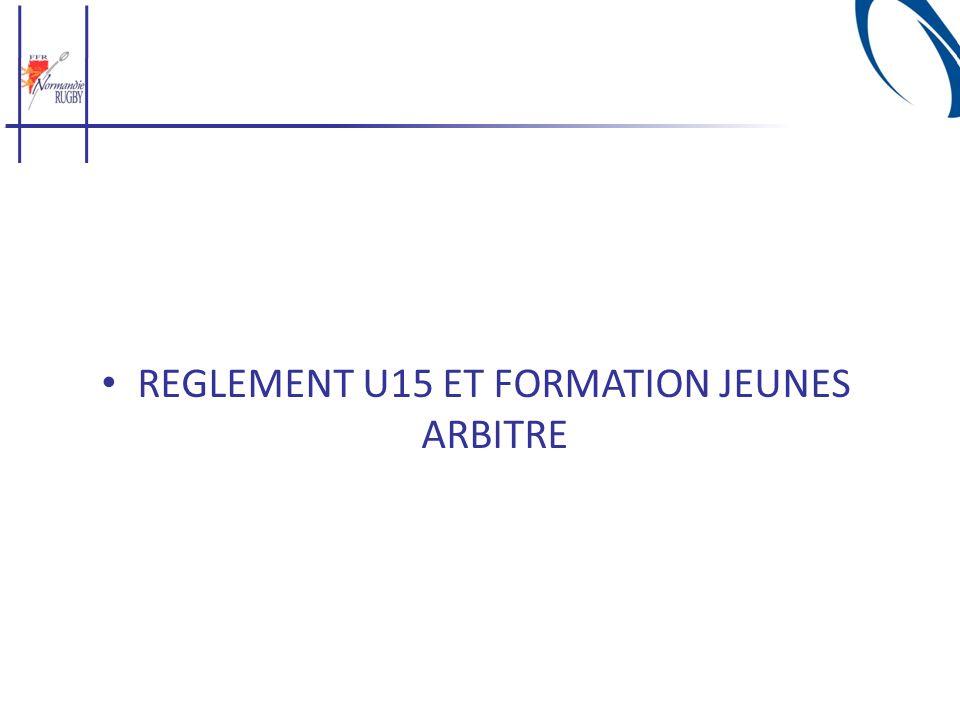 REGLEMENT U15 ET FORMATION JEUNES ARBITRE