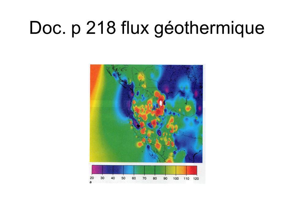 Doc. p 218 flux géothermique