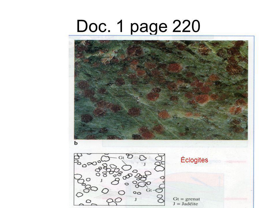 Doc. 1 page 220 Éclogites