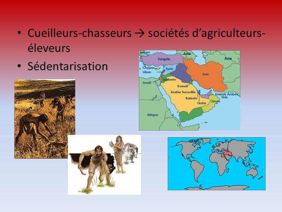 Cueilleurs-chasseurs sociétés dagriculteurs- éleveurs Sédentarisation