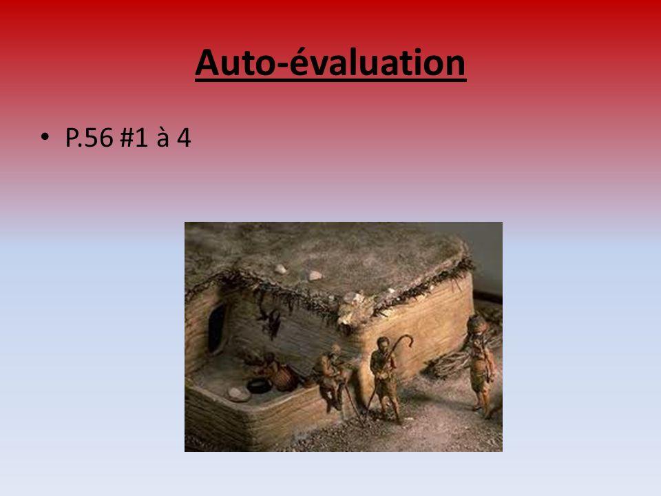 Auto-évaluation P.56 #1 à 4