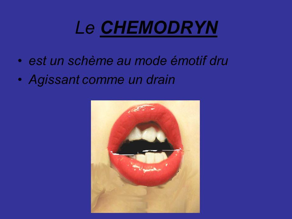 Le CHEMODRYN est un schème au mode émotif dru Agissant comme un drain