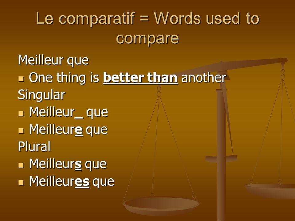 Put the correct form the the comparative in the blank La crêpe aux fraises est ________ la crêpe aux marrons.