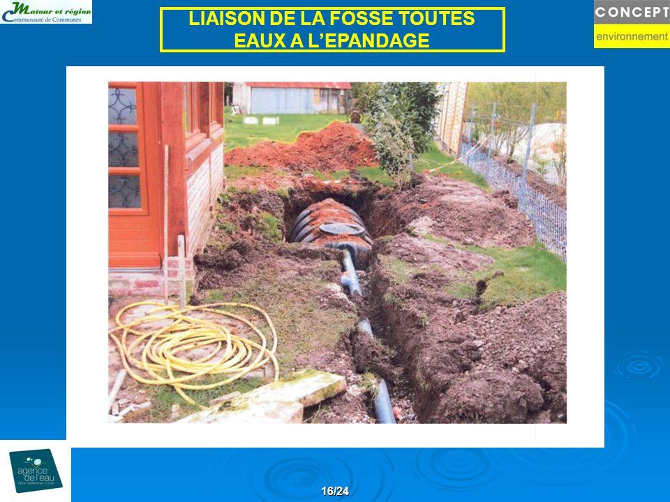 16/24 LIAISON DE LA FOSSE TOUTES EAUX A LEPANDAGE