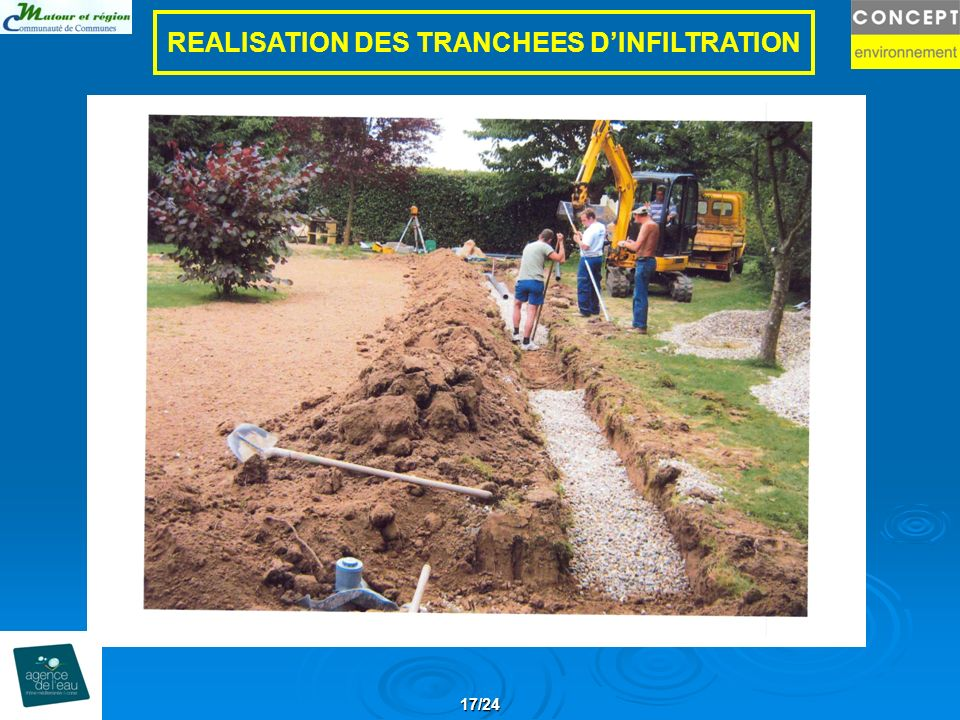 17/24 REALISATION DES TRANCHEES DINFILTRATION