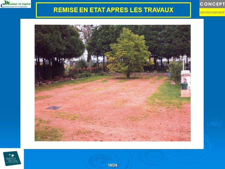 19/24 REMISE EN ETAT APRES LES TRAVAUX