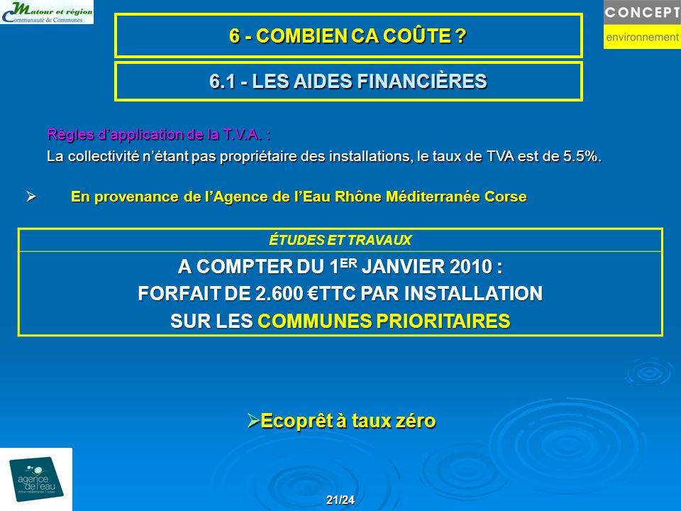 6.1 - LES AIDES FINANCIÈRES En provenance de lAgence de lEau Rhône Méditerranée Corse En provenance de lAgence de lEau Rhône Méditerranée Corse Règles