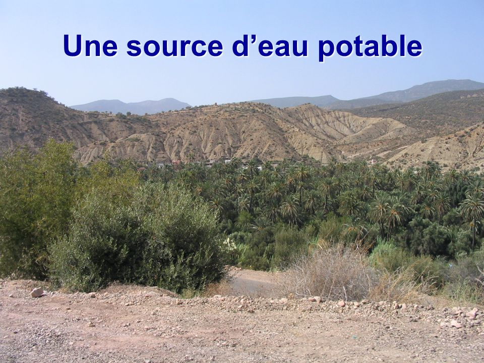 Une source deau potable