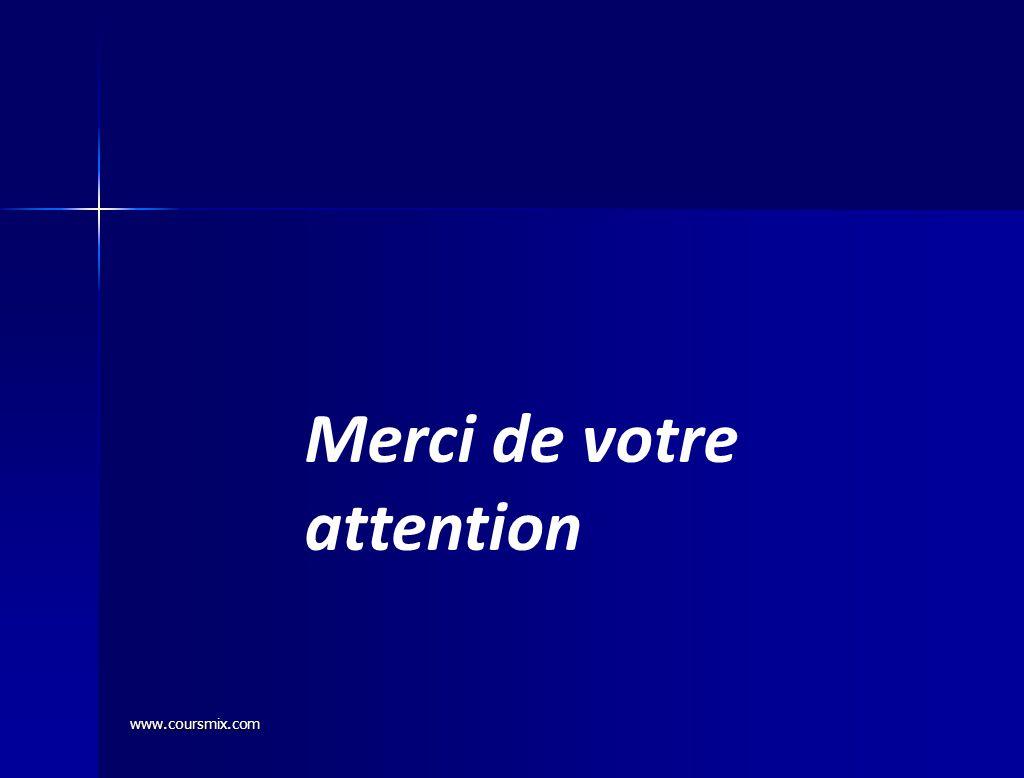 www.coursmix.com Merci de votre attention