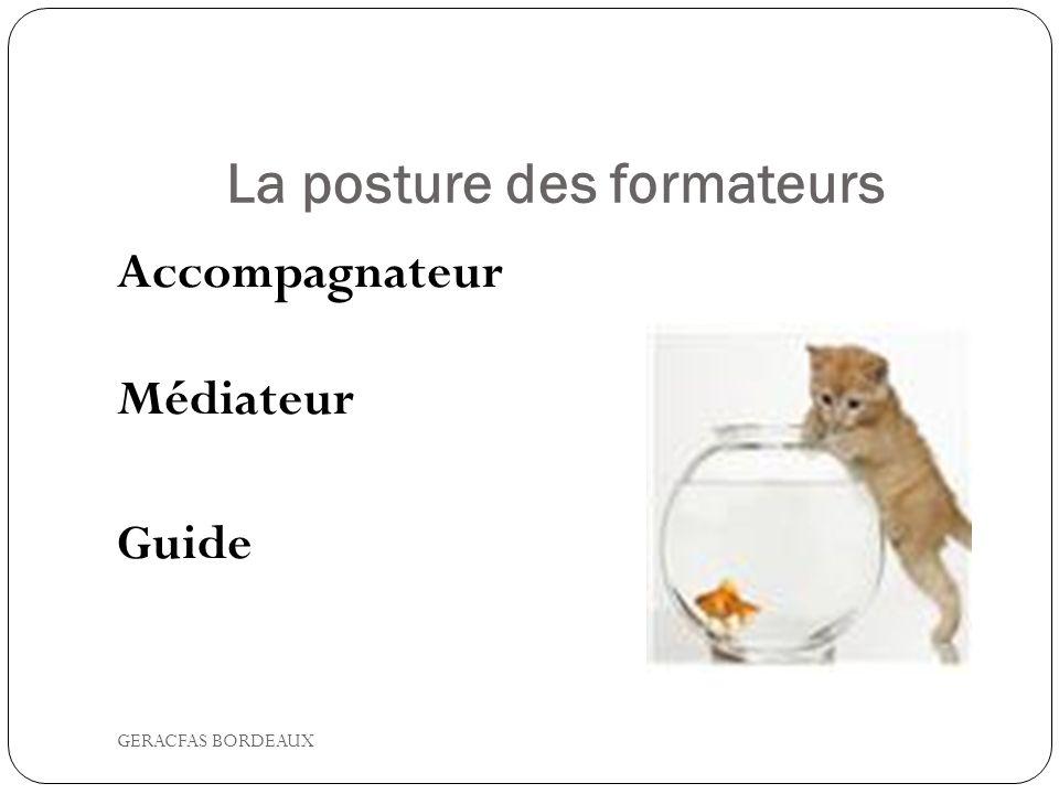 La posture des formateurs Accompagnateur Médiateur Guide GERACFAS BORDEAUX