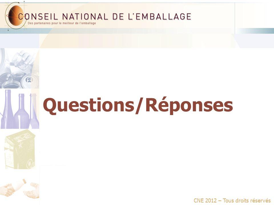 Questions/Réponses CNE 2012 – Tous droits réservés