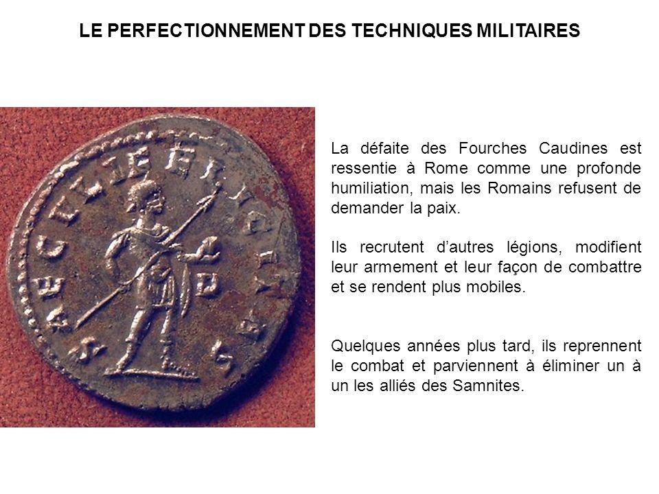 La défaite des Fourches Caudines est ressentie à Rome comme une profonde humiliation, mais les Romains refusent de demander la paix. Ils recrutent dau