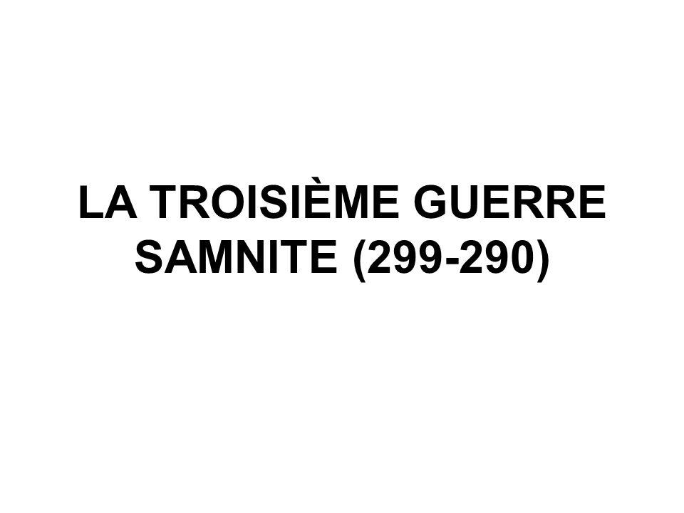 LA TROISIÈME GUERRE SAMNITE (299-290)