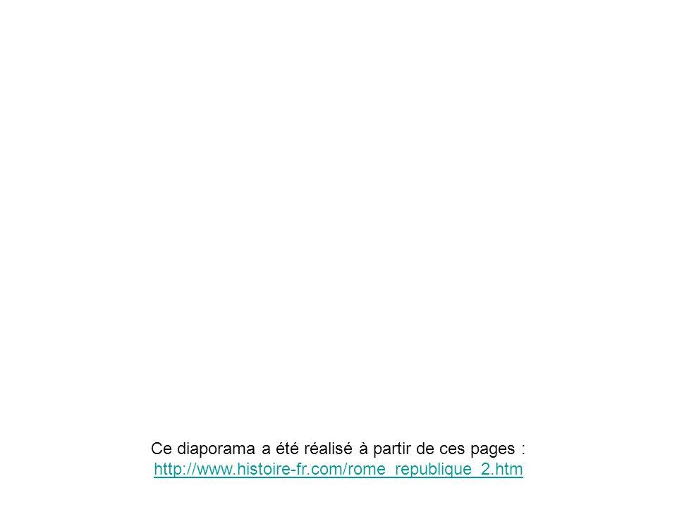 Ce diaporama a été réalisé à partir de ces pages : http://www.histoire-fr.com/rome_republique_2.htm