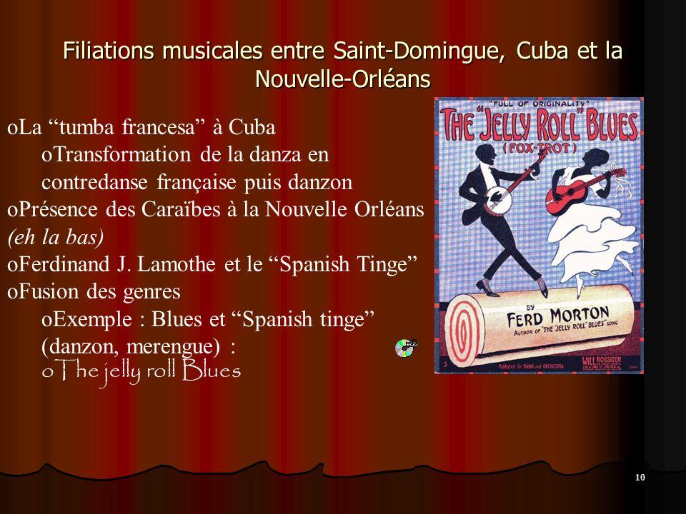 La naissance du jazz, les créoles et les descendants saint-dominguois; le cas de Ferdinand Joseph Lamothe Parlait uniquement le français jusquà lâge d