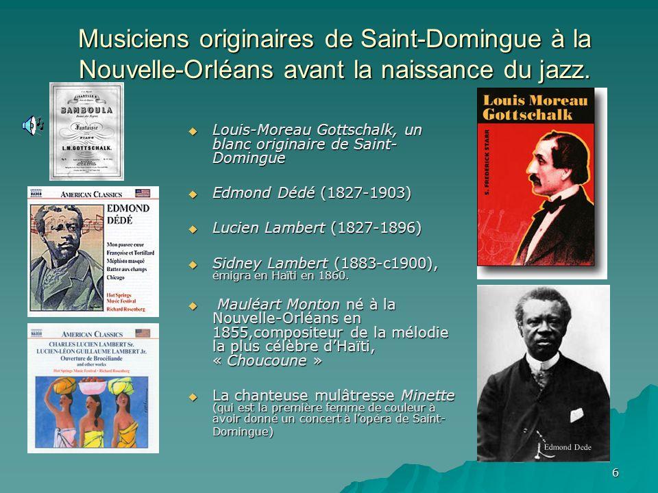 5 Limpact des refugiés Saint- Dominguois sur la société New- Orléanaise (1800 à 1870). 1810 : arrivée de 10.000 réfugiés à N.O. 1810 : arrivée de 10.0
