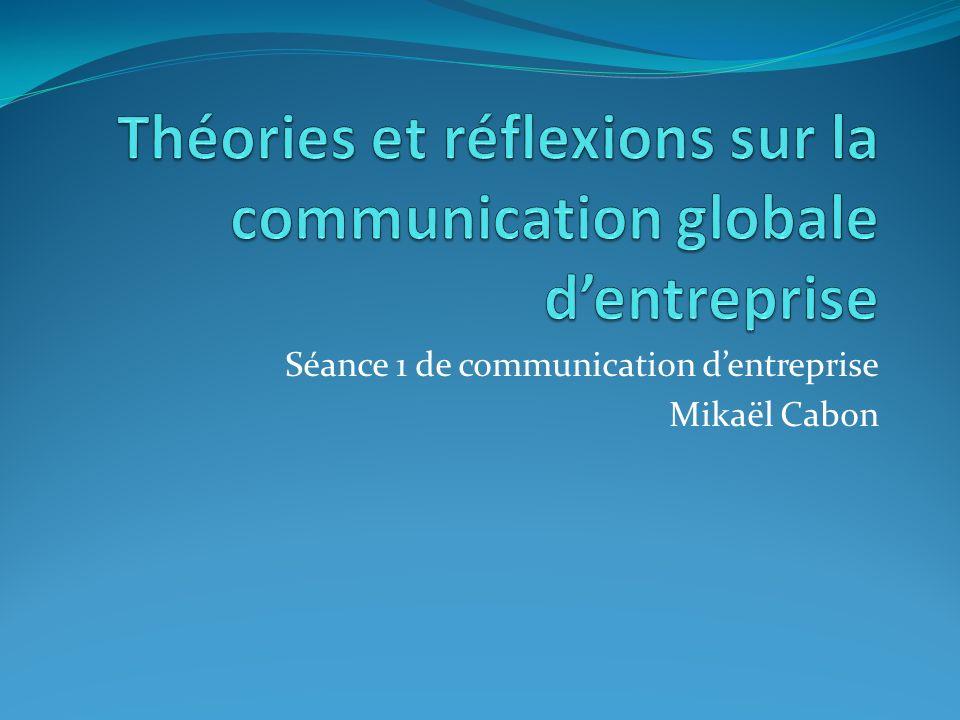 Séance 1 de communication dentreprise Mikaël Cabon