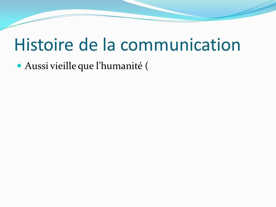 Histoire de la communication Aussi vieille que lhumanité (