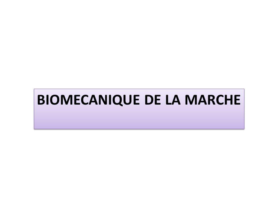 BIOMECANIQUE DE LA MARCHE