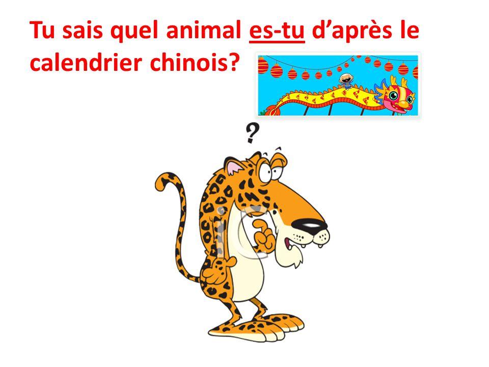 Tu sais quel animal es-tu daprès le calendrier chinois?