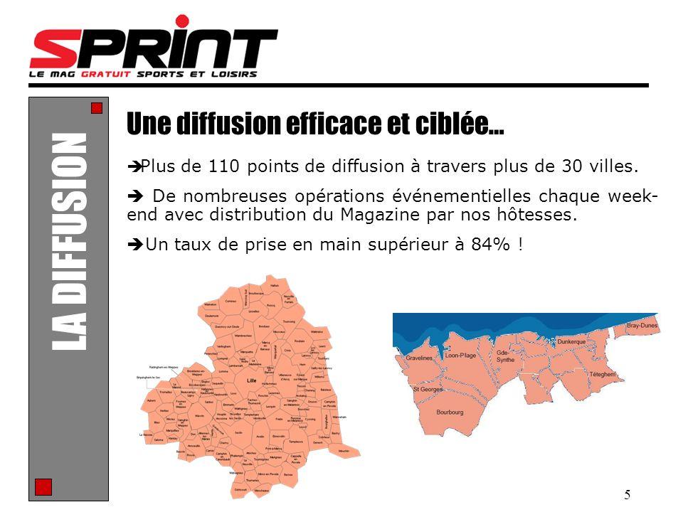 5 LA DIFFUSION Une diffusion efficace et ciblée… Plus de 110 points de diffusion à travers plus de 30 villes. De nombreuses opérations événementielles