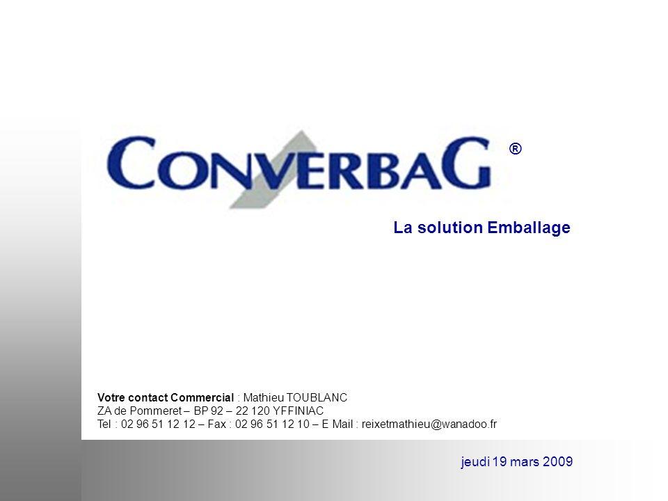 LA révolution dans le stockage ® jeudi 19 mars 2009 Converbag cest : Un GRVS en polypropylène ….