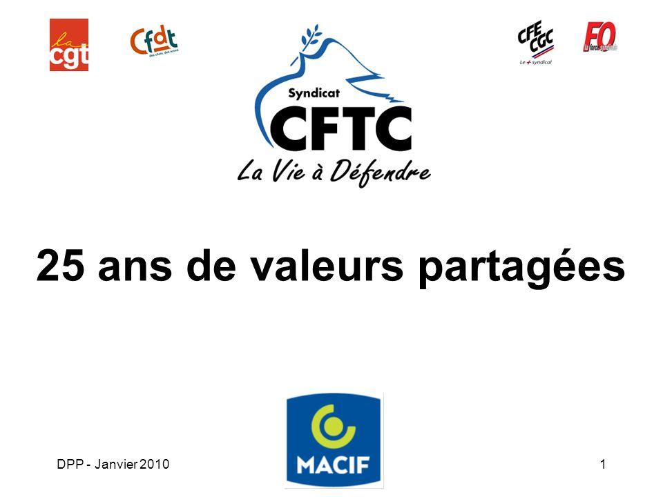 DPP - Janvier 20101 25 ans de valeurs partagées