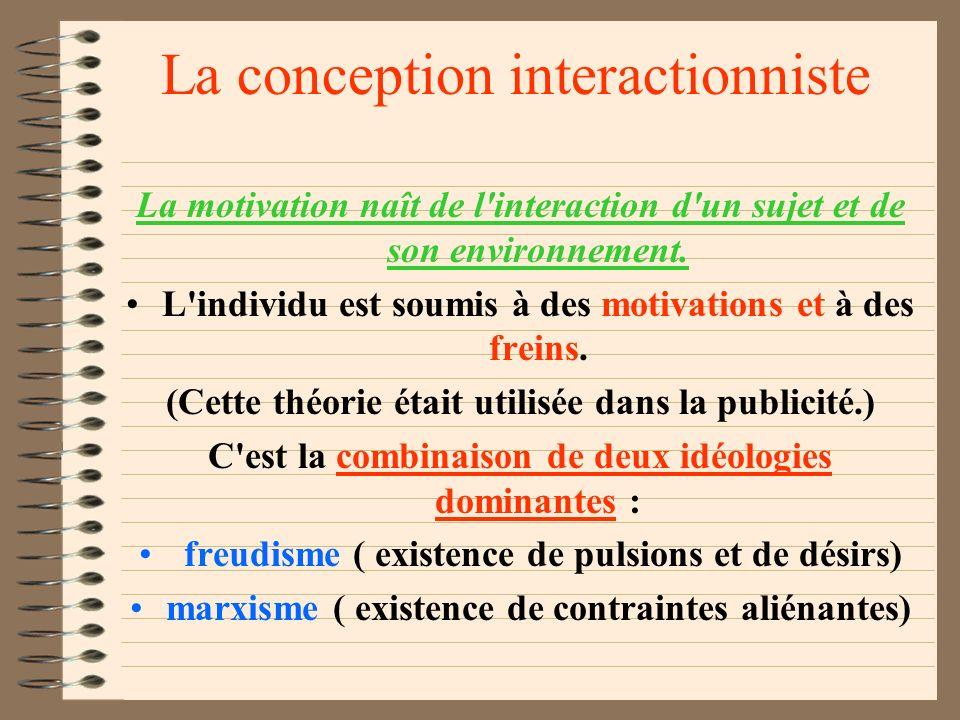 Les conceptions empiristes Les principes de référence : logique des conséquences A) Tout individu rencontre des situations qui vont le marquer : situa