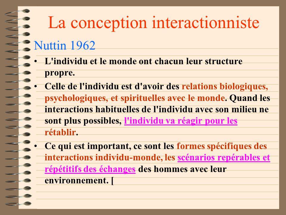 La conception interactionniste Lewin et les climats pédagogiques Dans un travail en groupe autocratique, les individus sont dépendants à l'égard du ch