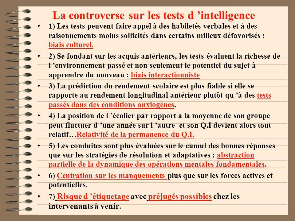 QUELQUES AUTRES CONNAISSANCES SUR LA MESURE PSYCHOLOGIQUE Il existe des études qui prétendent que certains tests sont également prédictifs de dommages