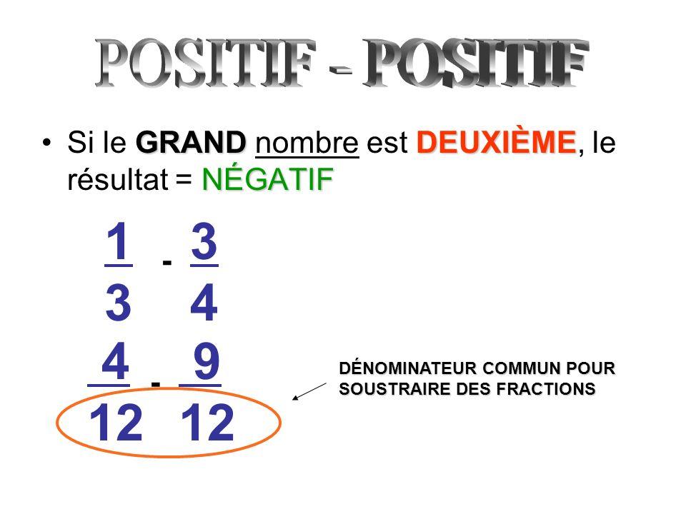 1313 - 3434 9 12 4 12 - DÉNOMINATEUR COMMUN POUR SOUSTRAIRE DES FRACTIONS