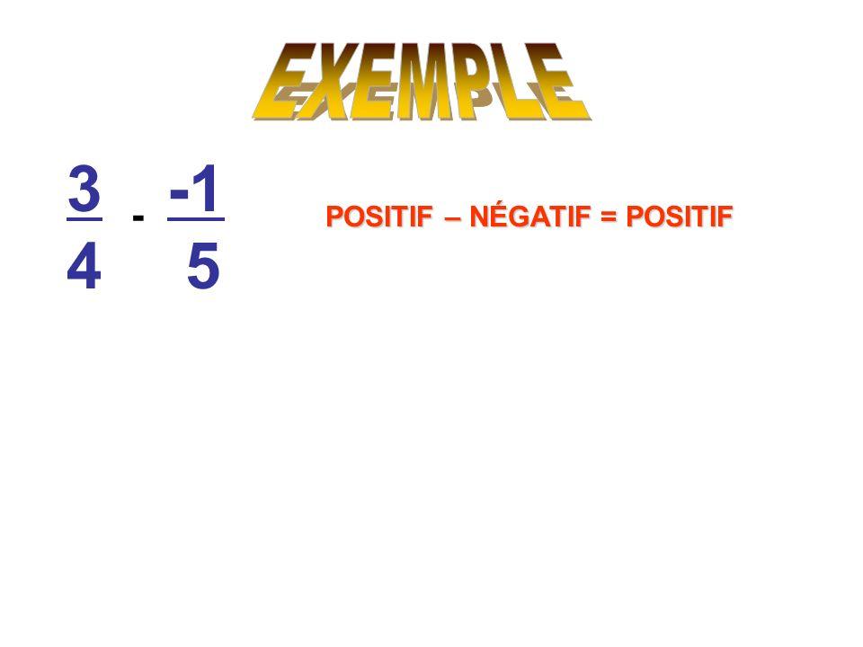 3434 5 - POSITIF – NÉGATIF = POSITIF