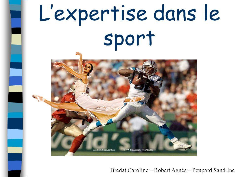 Lexpertise dans le sport Bredat Caroline – Robert Agnès – Poupard Sandrine