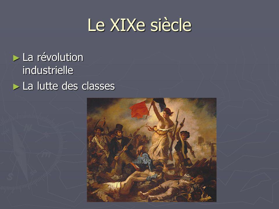 Le XIXe siècle La révolution industrielle La révolution industrielle La lutte des classes La lutte des classes