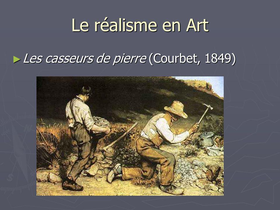 Le réalisme en Art Les casseurs de pierre (Courbet, 1849) Les casseurs de pierre (Courbet, 1849)