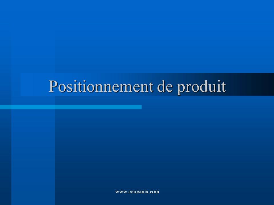 www.coursmix.com Positionnement de produit