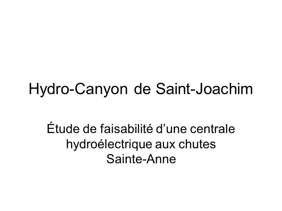 Hydro-Canyon de Saint-Joachim Étude de faisabilité dune centrale hydroélectrique aux chutes Sainte-Anne