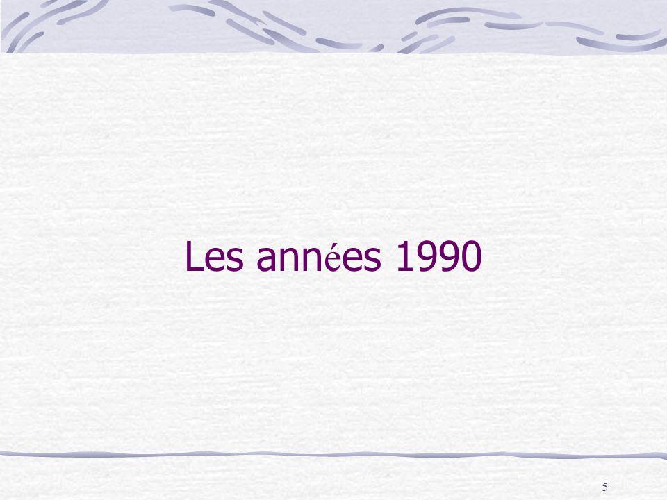 5 Les ann é es 1990
