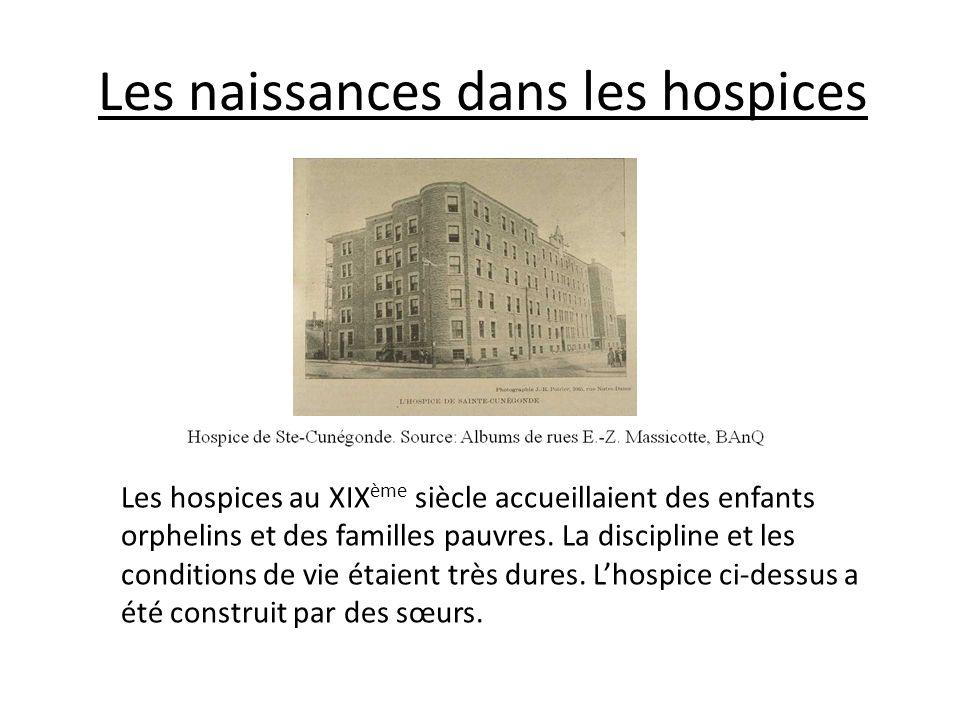 Les naissances dans les hospices Les hospices au XIX ème siècle accueillaient des enfants orphelins et des familles pauvres. La discipline et les cond