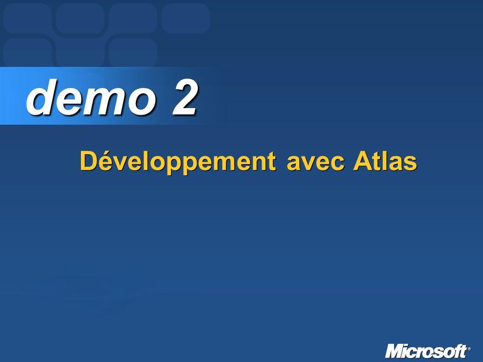 Développement avec Atlas demo 2 demo 2